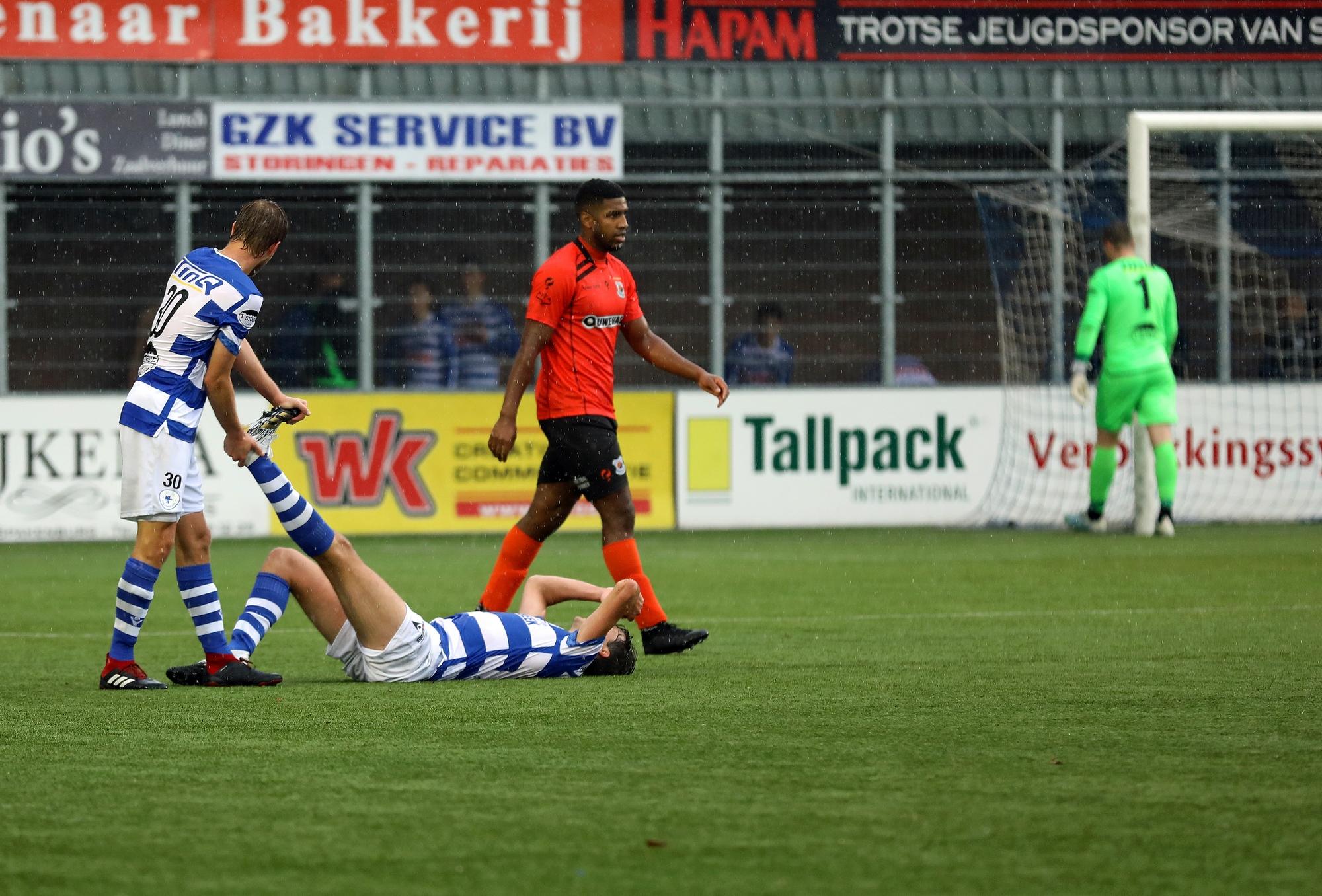 Spakenburg in de blessuretijd langs Katwijk